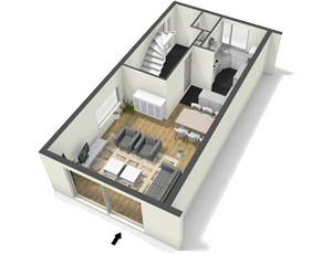 Create floor plans house plans and home plans online with Design your home online