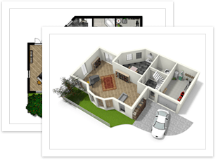 Create floor plans house plans and home plans online with for Online house map maker